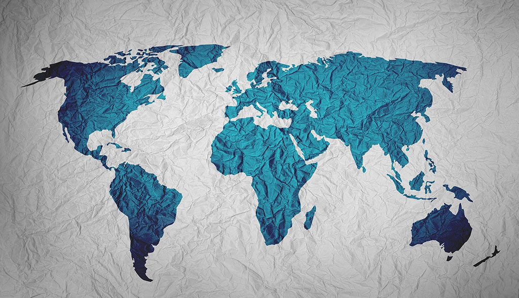 paper map of the world